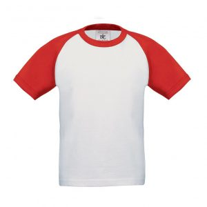 Baseball T-shirt wit-rood