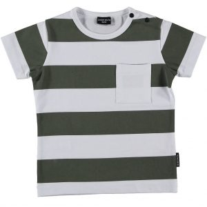 T-shirt Army Green White Lucky nr7