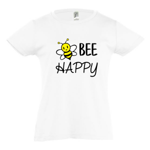 T-shirt bee happy girl wit