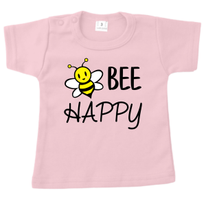 T-shirt Bee Happy roze