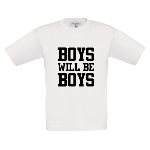 t-shirt boys will be boys wit