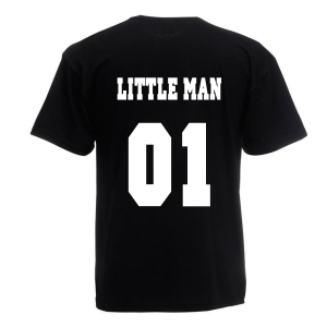 T-shirt Little Man zwart