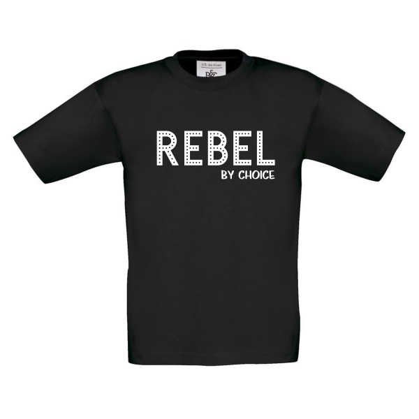 T-shirt Rebel by choice zwart