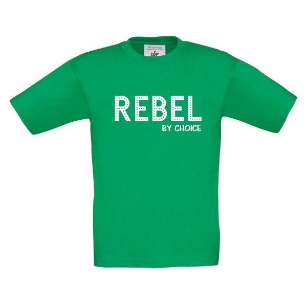 T-shirt Rebel by choice kelly green