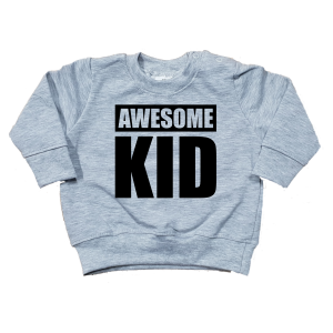 sweater awesome kid grijs