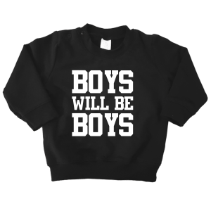 sweater boys will be boys zwart