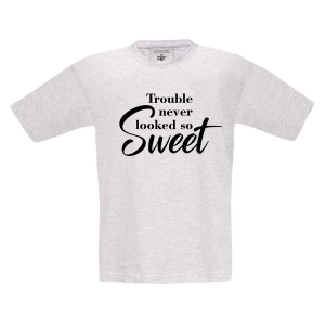 T-shirt Trouble never looked so sweet