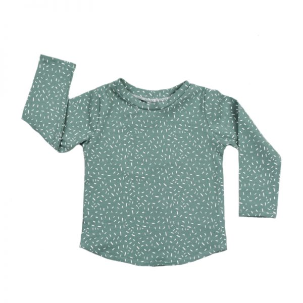 shirt sprinkles chalk green longsleeve