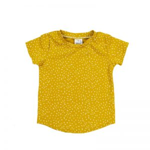 Shirt sprinkles ochre yellow shortsleeve 2