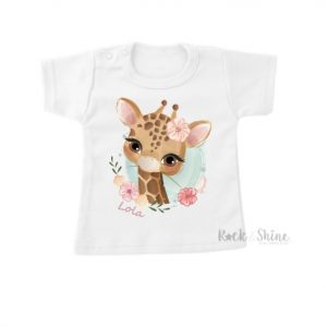Shirt Flower Giraffe