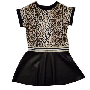 Jurk Leopard Leatherlook 1