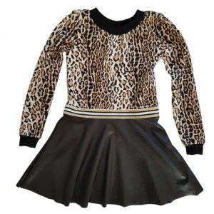 Jurk Leopard Leatherlook 2