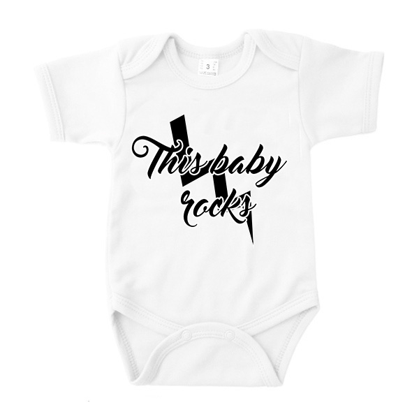 Romper This baby rocks wit