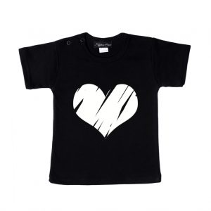 Shirt Big Heart zwart