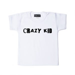Shirt Crazy Kid wit