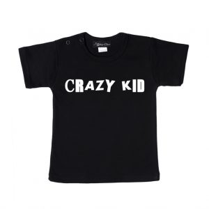 Shirt Crazy Kid zwart