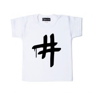 Shirt Hashtag wit