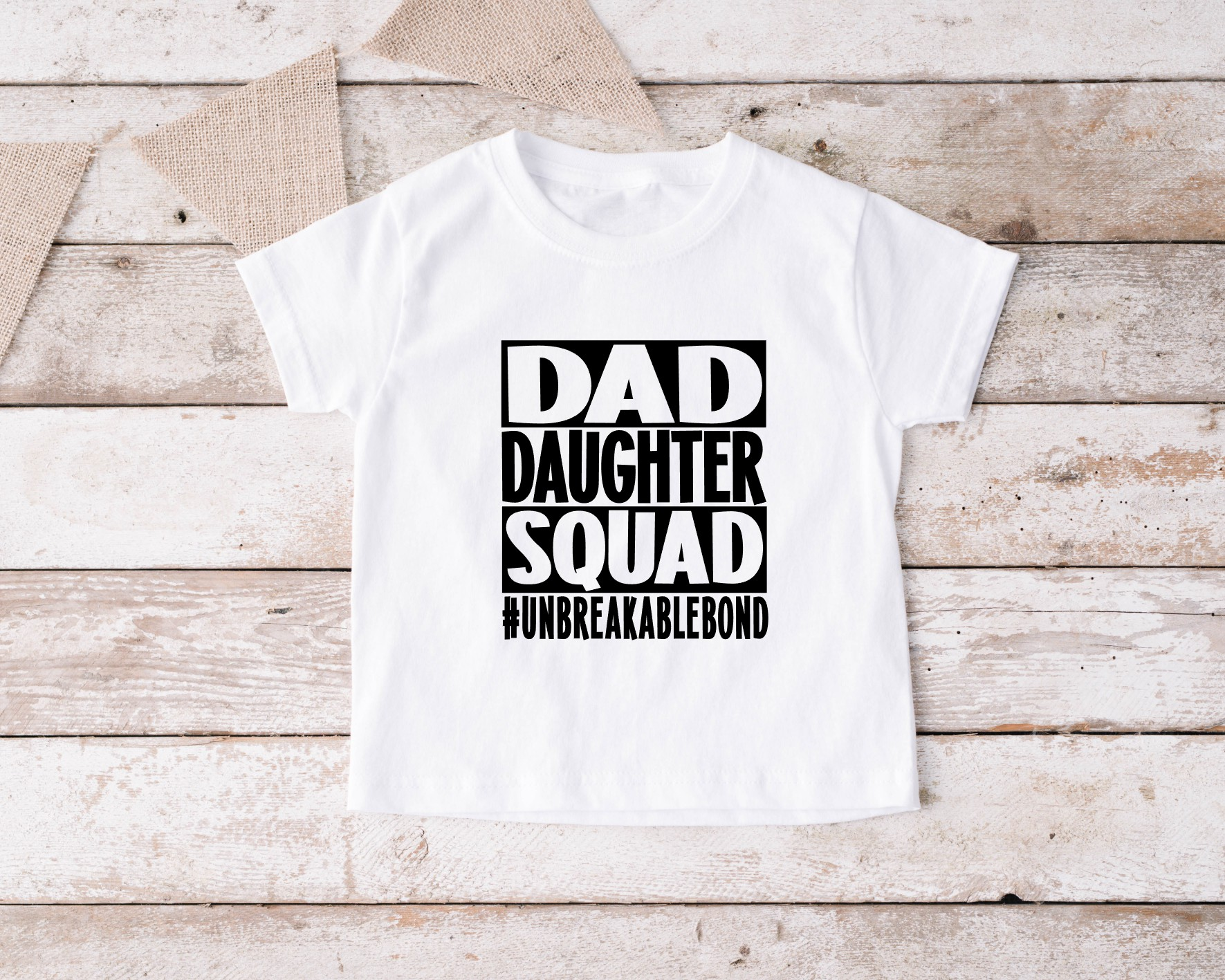 T-shirt Dad Daughter Squad